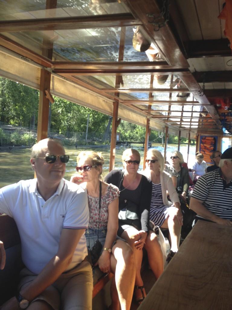 Flodbåt i Tigres delta