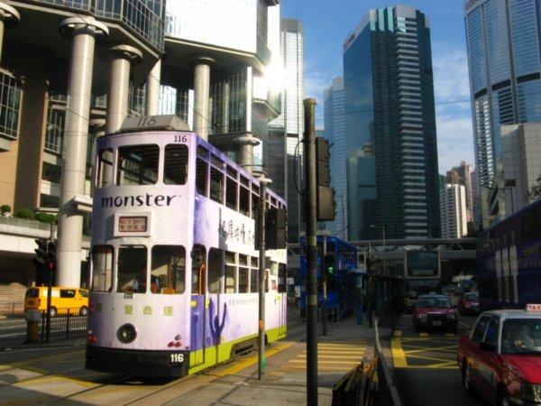 Spårvagn i Hong Kong - så kallad Ding Ding - är ett lätt och kul sätt att ta sig fram med